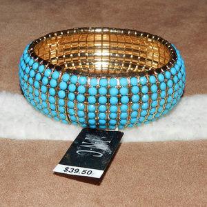 INC $39 Turquoise+Gold Cuff Bracelet